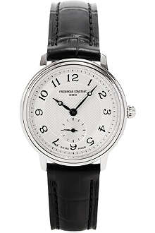 FREDERIQUE CONSTANT FC235AS1S6 stainless steel and leather watch