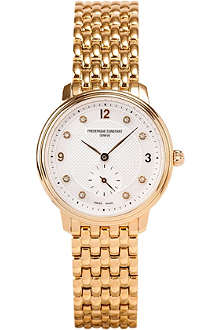 FREDERIQUE CONSTANT FC235MPWD1S5B slim line gold-plated steel watch