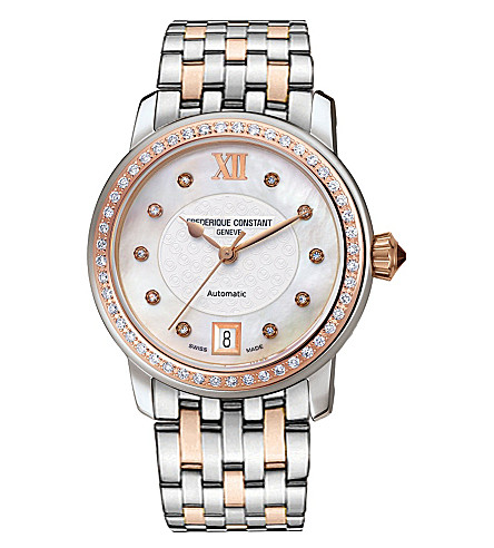 FREDERIQUE CONSTANT FC303WHF2PD2B3 World Heart Federation two-tone stainless steel and diamond watch (Mother-of-pearl