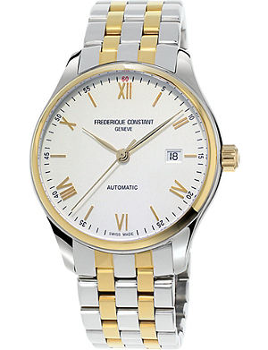 FREDERIQUE CONSTANT FC303WN5B3B Classics Index gold-plated stainless steel watch