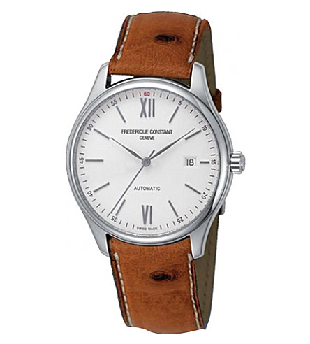FREDERIQUE CONSTANT FC303WN5B6OS Classics Index stainless steel and leather watch