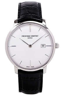 FREDERIQUE CONSTANT FC306S4S6 stainless steel and leather watch