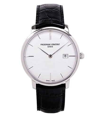 FREDERIQUE CONSTANT FC306S4S6 stainless steel and leather watch (Steel