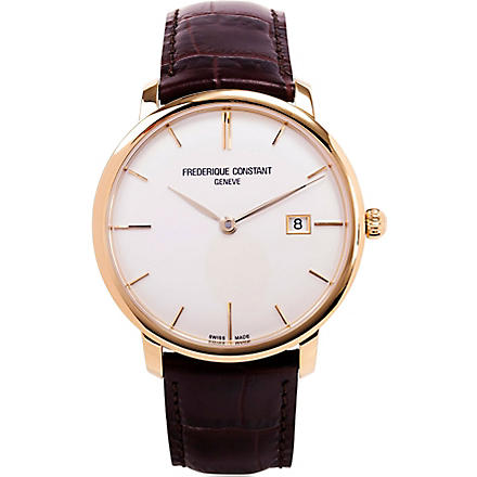 FREDERIQUE CONSTANT FC-306V4S5 slim-line automatic watch (Gold