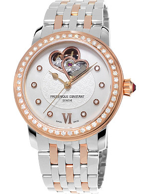 FREDERIQUE CONSTANT FC310WHF2PD2B3 Automatic World Heart Federation stainless steel and diamond watch