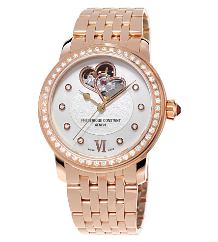 FREDERIQUE CONSTANT FC310WHF2PD4B3 Automatic World Heart Federation plated stainless steel watch (Mother-of-pearl
