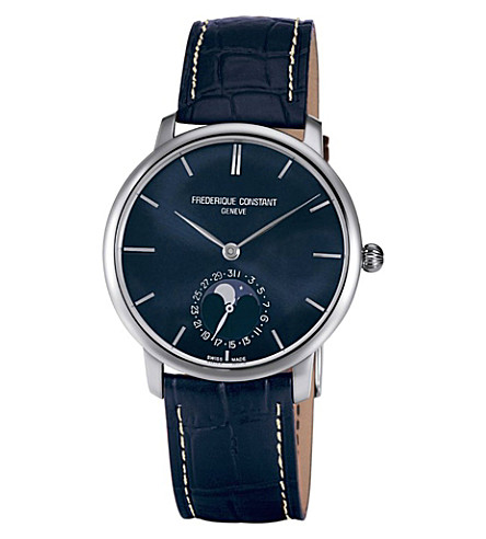 FREDERIQUE CONSTANT FC705N4S6 Constant Slimline stainless steel and alligator-leather watch