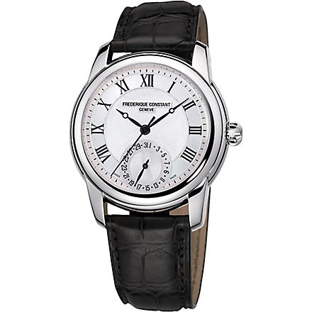 FREDERIQUE CONSTANT FC-710MC4H6 Classic stainless steel and leather unisex watch (Steel