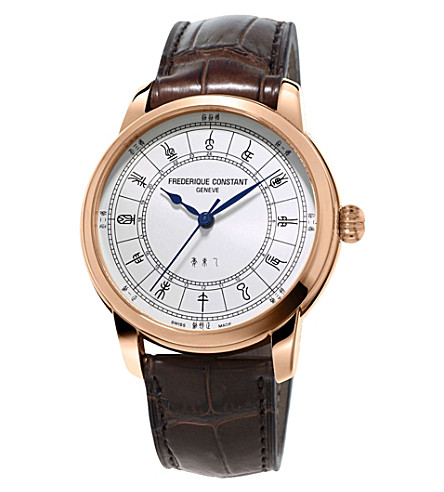 FREDERIQUE CONSTANT FC724CC4H4 zodiac rose gold-plated stainless steel watch