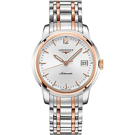LONGINES L2.766.5.72.7 Saint-Imier silver and rose gold watch