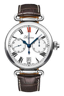 LONGINES L2.776.4.21.3 Heritage chronograph watch