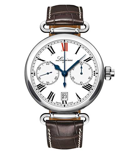 LONGINES L2.776.4.21.3 Heritage chronograph watch
