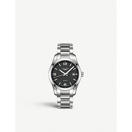 LONGINES L27854566 Conquest Classic stainless steel watch