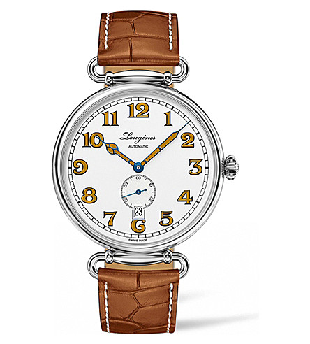LONGINES L28094232 heritage stainless steel watch (White