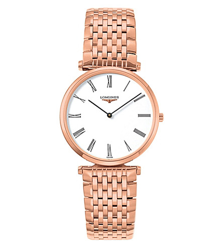 LONGINES L4.709.1.11.8 La Grande Classique rose gold watch