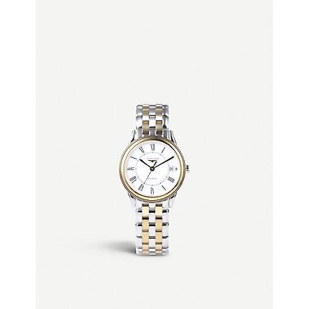 LONGINES Yellow gold & steel watch