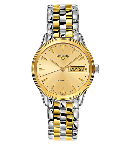 LONGINES Yellow gold & steel watch