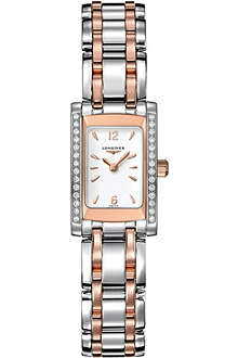 LONGINES L5.158.5.19.7 Dolcevita rose gold and steel watch
