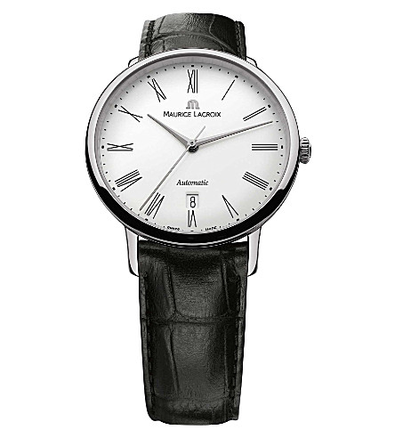 MAURICE LACROIX c6067-ss001-110 Stainless steel and croc-leather watch