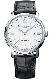 BAUME & MERCIER 8485 Classima stainless steel and alligator strap watch