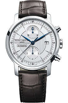 BAUME & MERCIER 8692 Classima stainless steel and alligator strap chronograph watch