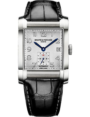 BAUME & MERCIER M0A10026 Hampton stainless steel and leather watch