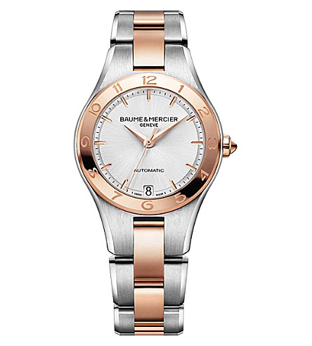 BAUME & MERCIER M0A10073 Linea steel and rose gold-plated watch