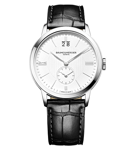 BAUME & MERCIER Classima 10218 steel and leather watch
