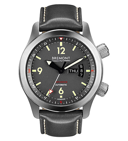 BREMONT U-22/BZ stainless steel watch (Grey