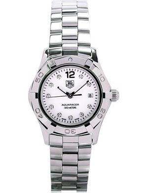 TAG HEUER Aquaracer diamond dial watch 27mm