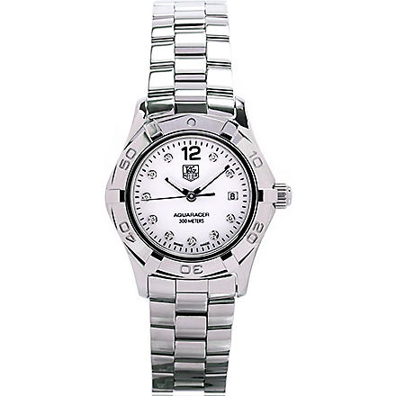TAG HEUER Aquaracer diamond dial watch 27mm (Steel