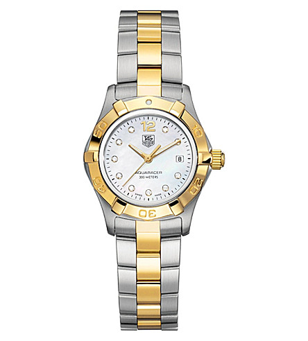 TAG HEUER Aquaracer diamond dial watch 27mm (Steel & gold