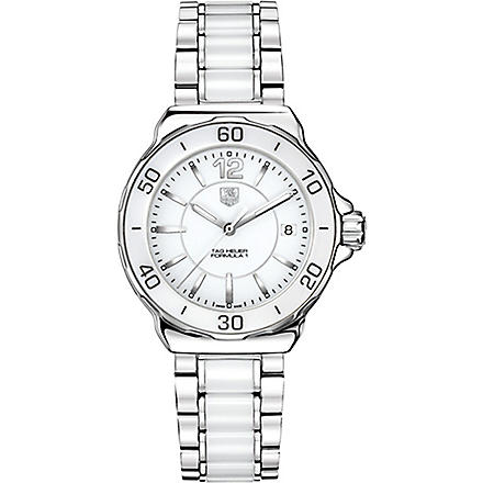 TAG HEUER Formula 1 steel & ceramic watch 37mm (Ceramic- white