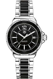 TAG HEUER Formula 1 steel & ceramic diamonds watch 37mm