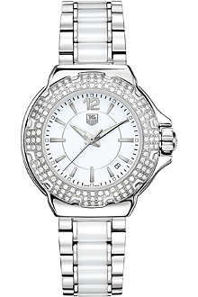 TAG HEUER WAH1215.BA0861 Formula 1 diamond-bezel watch