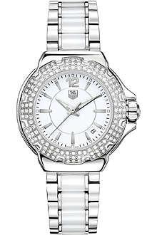 TAG HEUER WAH1215.BA0861 Formula 1 diamond-bezel watch