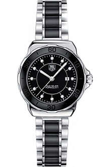 TAG HEUER Formula 1 steel & ceramic diamond dial watch 32mm