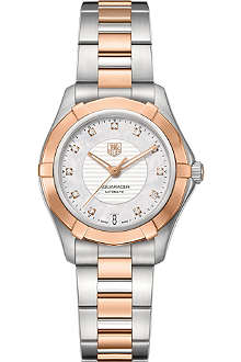 TAG HEUER Aquaracer diamond dial watch 34mm