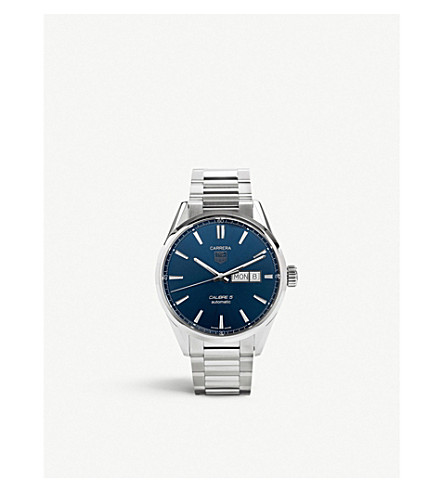 TAG HEUER Carrera stainless steel blue gents (Blue