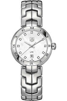 TAG HEUER Link diamond dial roman numeral watch 29mm