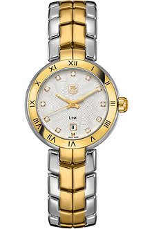 TAG HEUER Link Steel & Gold, Diamond Dial Roman Numeral 29mm