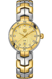 TAG HEUER Link lady quartz gold watch