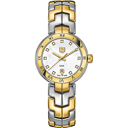 TAG HEUER WAT1453BB0960 Two-tone lady link quartz watch (Pearl