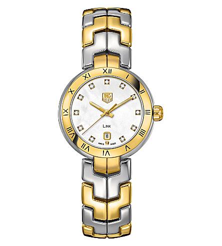 TAG HEUER WAT1453BB0960 Two-tone lady link quartz watch (Pearl