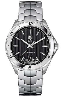 TAG HEUER Link calibre 5 day-date automatic watch 42mm