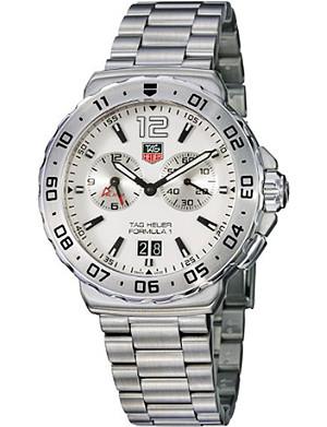 TAG HEUER BA0869 Formula 1 Grande Date Alarm steel watch 42mm