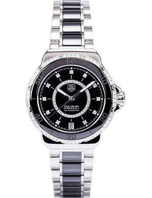 TAG HEUER Formula 1 steel and diamond ceramic watch