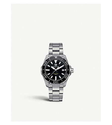 TAG HEUER WAY111ABA0928 aquaracer stainless steel watch (Black