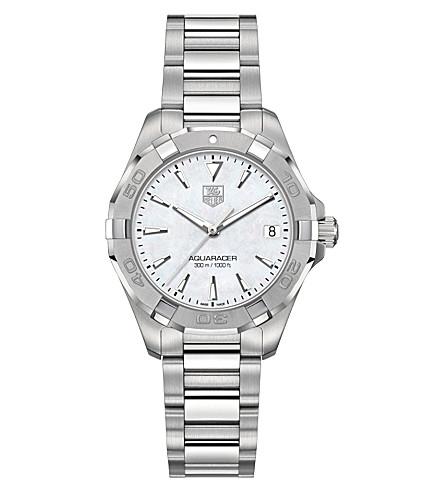 TAG HEUER WAY1312BA0915 竞潜抛光钢和珍珠母手表 (银色