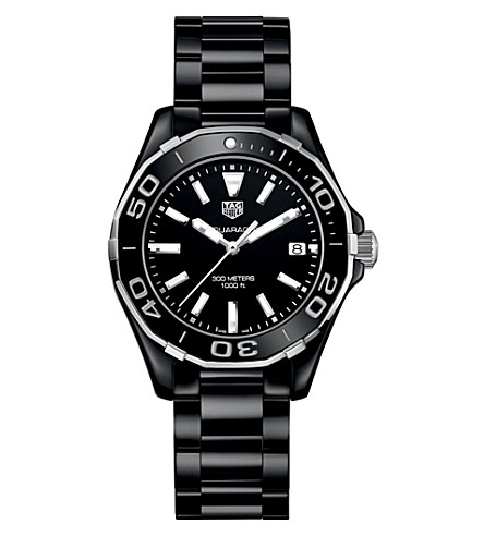 TAG HEUER WAY1390.BH0716 aquaracer ceramic watch (Black